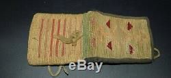 Petit Nez Perce Indian Corn Husk Sac Wallet Début Des Années 1900 Native American