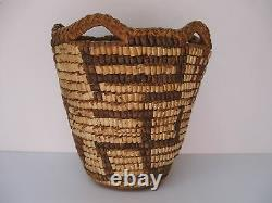 Petit Pictural Native American Pacific Nw Klickitat Basket Début 1900 Wow