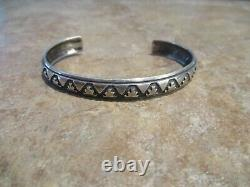Plus Grand Early Tommy Singer (d.) Navajo Inlay Sterling Silver Design Bracelet
