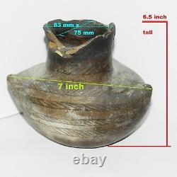 Premier Ancestral Pueblo Potier Indien Pot Vase 3 Côté 6.5 Artefact Comme Est