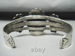 Premier Plateau Vintage Navajo Turquoise Bracelet En Argent Sterling