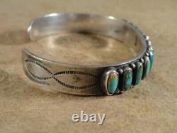 Premier Vintage Don Lucas Turquoise & Sterling Silver Row Bracelet
