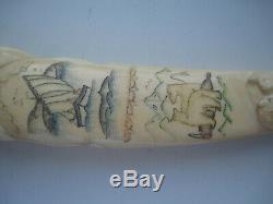 Première Moitié Du 20e Siècle Détroit De Béring Yupik Fossiles Kinfe Et Cas, Les Inuits