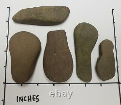 Premiers Artefacts De Pierre Natifs Américains Axes Tomahawk Charrue Pennsylvanie