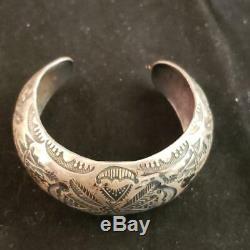 Ralph Tawangyaouma Early Hopi Bracelet En Argent Sterling Amérindien