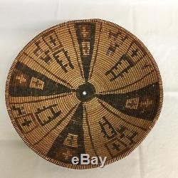 Rare! Au Début Amérindien Yavapai / Western Apache Polychrome Panier -circa 1890