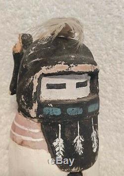 Rare Au Début Antique Amérindien Hopi Alo Mana Collection Kachina Doll