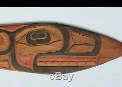 Rare Au Début Du Nord-ouest Haïda Tlingit Cérémonie De Danse Padle Amérindien