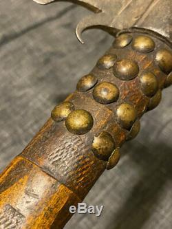 Rare Début Corbeau Indien Pipe Tomahawk Forged Esponton Head Gun Barrel Bowl 1780