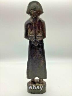 Rare Early 1700s Antique Amérindienne Amérindienne Statue De La Mère Et De L'enfant
