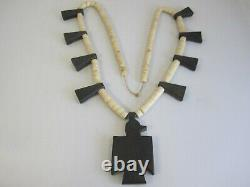 Rare Early Depression Era Santo Domingo Thunderbird Native American Necklace