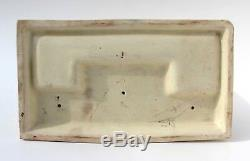 Rare Early Roseville Creamware Poterie Fumeur Set Avec Native American Indian
