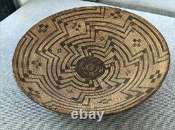 Rare Early Southwest Native American Indian Basket Tray 17,5
