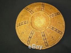 Rare Panier Early Chumash, Amérindien, Vers 1840