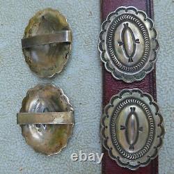 Ray Tracey Knifewing Segura En Argent Sterling Début Concho Ceinture Wow Mint