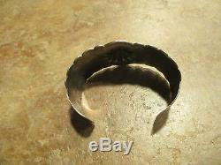 Scarce Early Fred Harvey Era Navajo Argent Applied Thunderbird Design Bracelet