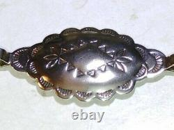 Spectaculaire Early Vintage Navajo Sterling Silver Concho 30 Belt Amérindien