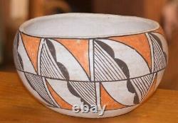 Superbe Acoma Vintage Enroulé À La Main Pueblo Olla! MID Au Début Des Années 1900 / Livraison Gratuite