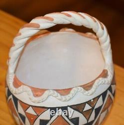 Superbe Basket De Pueblo Acoma À La Main Vintage! MID Au Début Des Années 1900 / Livraison Gratuite