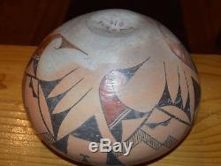 Superbe Début Des Années 1900 Handcoiled Old Acoma Pueblo Olla! Livraison Gratuite