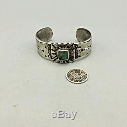 Superbe Début Lingot Bracelet Avec Naturel Vert Turquoise Prisé Possession