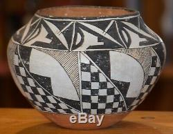Superbe Vintage Handcoiled Acoma Pueblo Olla! MID Au Début Des Années 1900 / Livraison Gratuite