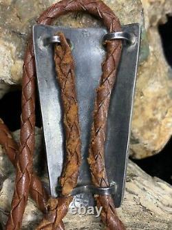 Tôt! Old Pawn, Hopi Victor Coochwytewa Sterling Silver Bolo Des Années 1940, 26,8 G