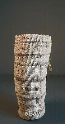 Très Fin 1900 Au Début Du Nord-ouest Amérindien Wasco Souple Ficelle Panier