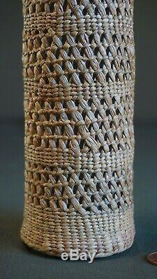 Très Fin 1900 Grand Début Côte Nord-ouest Amérindien Bouteille Basketery