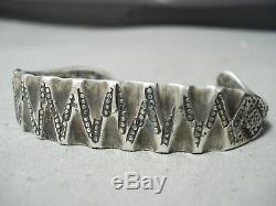 Très Tôt Lingot Argent Navajo Bracelet Serpent