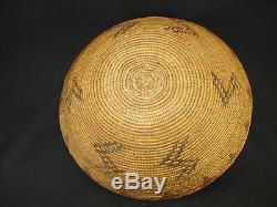 Un Grand Début Maidu Polychrome Panier, Amérindien, Vers L'année 1910