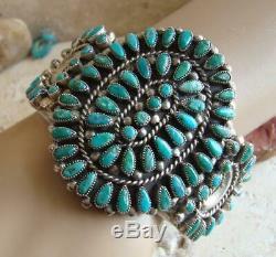 Valentino & Matilda Banteah Zuni Early Sterling Turquoise Cluster Bracelet