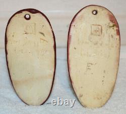 Van Briggle Début Années 1930 Poterie Mulberry Faces Amérindien Paire