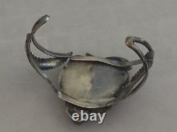 Vente Early Navaho Sterling Argent Kingman Turquoise Coffre-fort Leaf Bracelet Ry