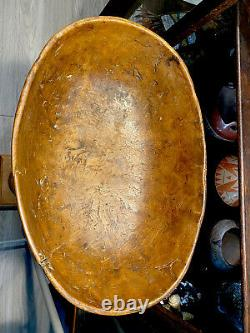 Vers 1750s Eastern Native American Woodland Indian Burl Bowl Exemple Très Tôt