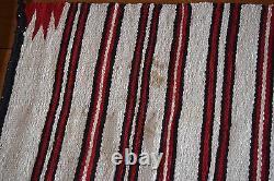 Vieux Grand Grand Tapis Navajo Tôt, Couverture Textile Coloré Amérindien, Tissage