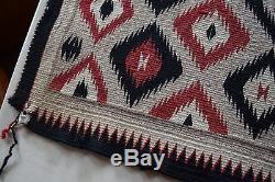 Vieux Millésime Précoce Tapis Navajo, Couverture Petit Amérindien Textile, Tissage