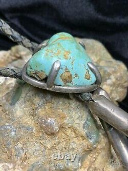Vieux Pion, Early Hopi Ralph Tawangyaouma Sterling Silver & Turquoise Bolo