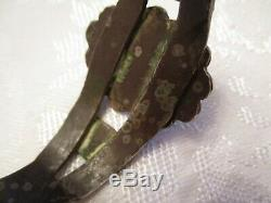 Vieux Pion Vintage Chisel Cut & Early Turquoise Coin Argent Manchette