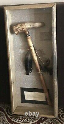 Vintage Antique Early Native Americans Tip War Club Axebattle Hunting Arme Old