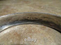 Vintage Early Tommy Singer (d.) Navajo En Argent Sterling Design Bracelet