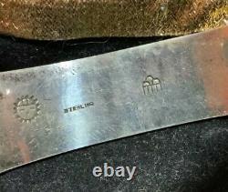 Vintage Hopi Victor Coochwytewa Argent Sterling Pin Historique Début Signature