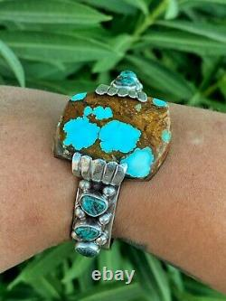 Vintage Native American Navajo Sterling Silver Project Cuff Bracelet Watch Autres