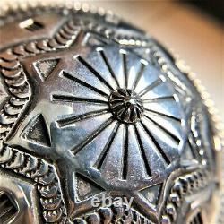 Vintage Rare Navajo Début Sunshine Reeves Canteen Collectable Estampillé Ss Signé