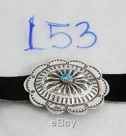Vtg Précoce Frederick Chavez Femmes De Turquoise. 925 Argent Concho Ceinture
