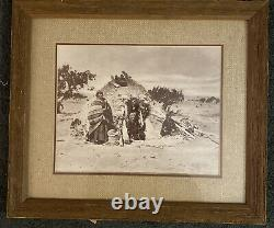 William Pennington Navajo Native American Photograph Print, Début Des Années 1900 Encadré