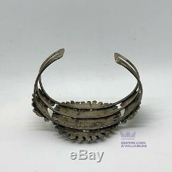 Zuni Argent Turquoise Petit Sterling Point De Bracelet Début 900 Argent Jb1m